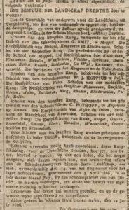 1806-07-22 Onderwijs scholen in drenthe