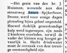 1894-05-05 Divers Medisch Spijkerboorsdijk ziekte bij fam huisman 11-13