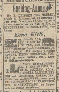 1894-07-07 Boeldag Schoemaker L verkoop vee 2
