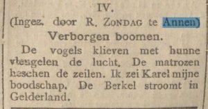 1906-00-00 Divers gedicht Zondag r
