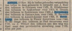 1908-11-28 Gemeente tol pacht Rijnberg (2)