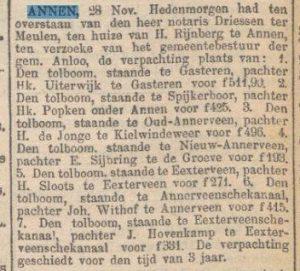 1908-11-28 Gemeente tol pacht Rijnberg