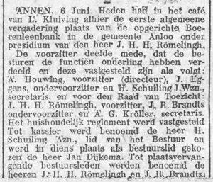 1914-06-08 Vereniging oprichting boerenleenbank A.Houwing J.Eggens