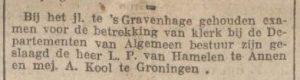1916-12-23 Onderwijs van hamelen l.p. geslaagd