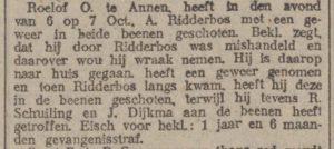 1918-12-10 Geweld misdaad schietincident ridderbos dijkema schuiling