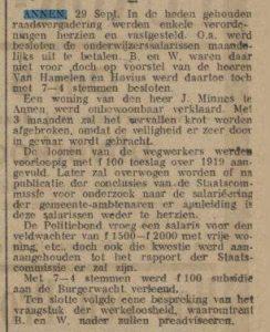 1919-08-19 Politiek Minnes j  sloop en salaris politie