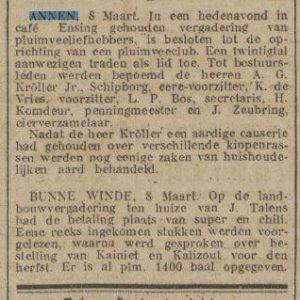 1922-03-08 Vereniging Kroller pluimvee vereniging