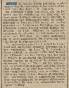 1924-01-29 Gemeente onderwijzer Oosterhuis