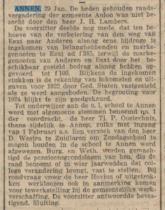 1924-01-29 Onderwijs  onderwijzer Oosterhuis tj.p.