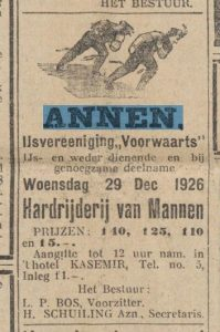 1926-12-29 Vereniging schaats wedstrijden 1926