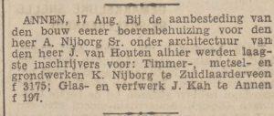 1931-08-18 Gemeente aanbesteding huis a.nijborg kah j