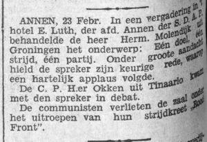 1933-02-24 Vereniging Herm.Molendijk uit gron. C.P.H.er Okken uit Tinaarloo communisten