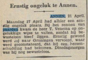 1933-04-21 Ongeval ongeluk met paard venema