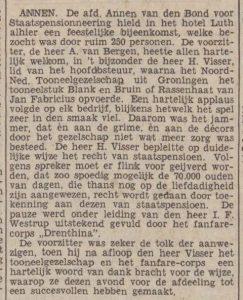 1938-01-25 Vereniging Bond voor staatspensioenering a.van Bergen