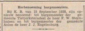 1938-09-19 Politiek benoeming Engelenburg