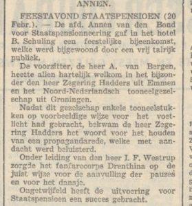 1940-02-20 Vereniging feestavond staatspensioen drenthina schutrups