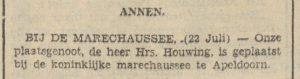 1940-07-23 Personen benoeming hrs houwing bij de marechaussee