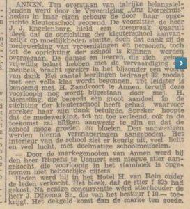 1941-06-07 Onderwijs school opr.kleutersch