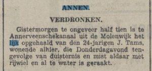 1941-11-22 Divers j.Tams verdronken