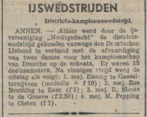1942-02-04 Vereniging schaatswedstrijd