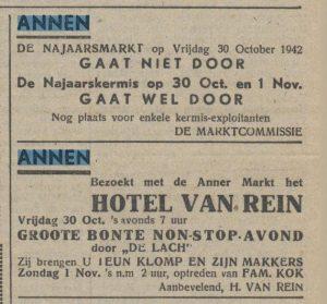 1942-30-10 Markt jaarmarkt van rein bonte avond familie kok