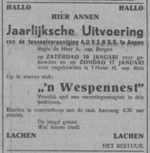 1943-01-08 Vereniging toneelvereniging ADVENDO