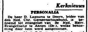 1943-03-11 Kerk  evangelist Laansma d
