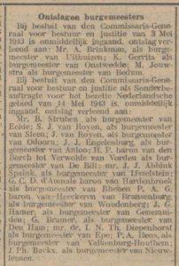 1943- 05-29 Politiek Engelenburg ontslag