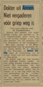 1969-00-00 Divers griep epidemie dr wenniger