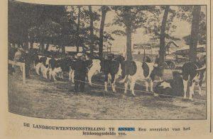foto ongeveer 50 jaar geleden landbouwtentoonstelling